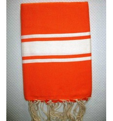 Flat bright orange fouta