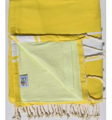 beach towel doubled spongeblue, yellow cobalt and yellow lime