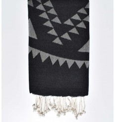 Beach towel bohemian  black