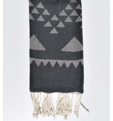 Beach towel bohemian slate gray