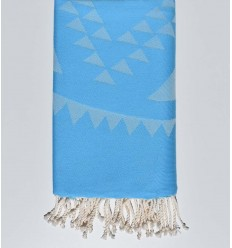 Beach towel bohemian light blue