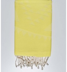 Beach towel bohemian yellow chartreuse