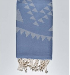 Beach towel bohemian blue barbeau