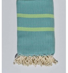 Beach towel chevron turquoise green and anise green