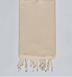 Beach towel White cream