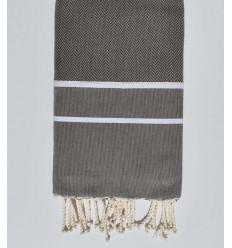 Beach towel chevron gray dust