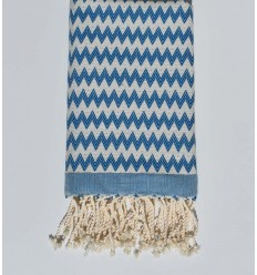 Beach towel zigzag heavenly blue