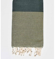 Beach towel lurex Honeycomb dark green
