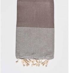 Beach towel lurex Brown