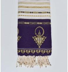 Beach towel khlela purple bizantium