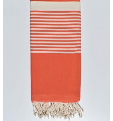 Thrown striped orange
