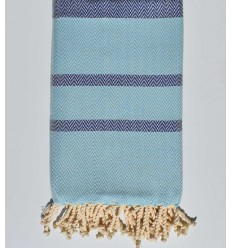 Beach towel chevron azul real y cielo azul