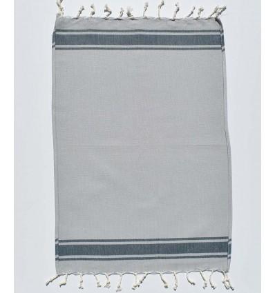 mini gray blue with stripes napkin