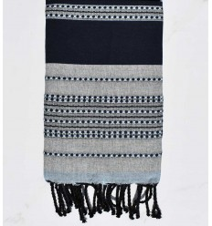Beach towel arabesque blue night
