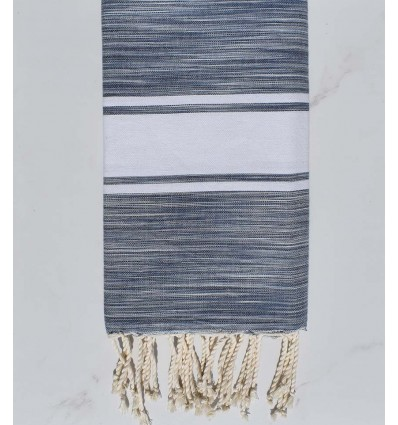 Beach towel gray and blue