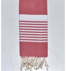 Beach towel Arthur raspberry red