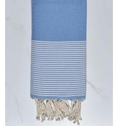 Honeycomb Azure blue white striped