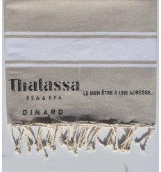 Embroidered beach towel Thalassa Sea & Spa