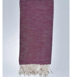 Thrown flamed plum color 270*200cm