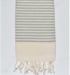 Honeycomb striped 1 cm mouse grey stripes fouta