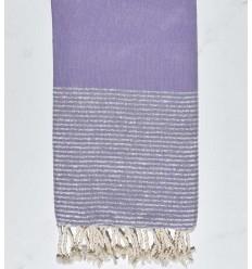Flat lavender blue lurex fouta