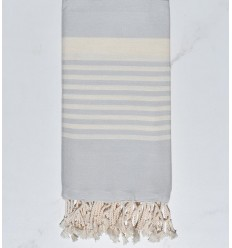Arthur pale blue striped white fouta