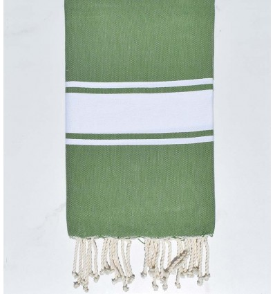 Flat avocado green fouta