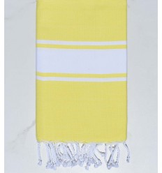 Flat lemon yellow fouta