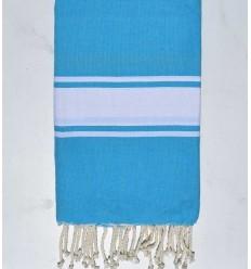 Flat azure blue fouta
