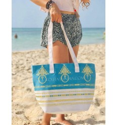 Beach bag towel khlela Azure blue