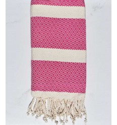 Beach towel chevron Fushia pink