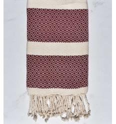 Beach towel chevron burgundy red