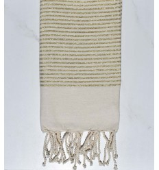Flat off-white lurex fouta