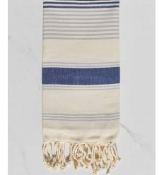 cream white, jean blue and smoke blue beach towel