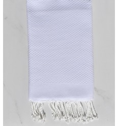 Plain honeycomb white fouta
