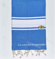 beach towel embroidered CLARINS