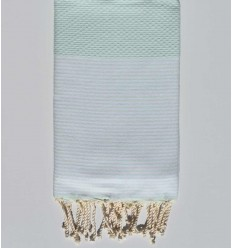 honeycomb very light turquoise beach towel