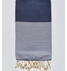 Honeycomb oxford blue Fouta