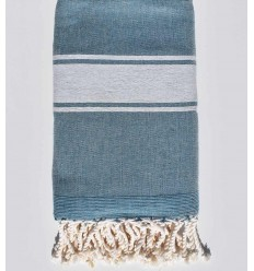 pale aqua blue beach towel sponge