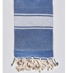 blue jeans beach towel sponge