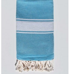 medium azure blue beach towel sponge