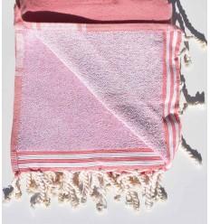 pink incarnadin beach towel sponge