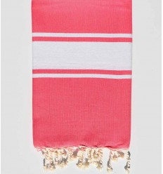 Flat candy pink beach towel