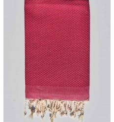 Plain honeycomb ruspberry pink fouta
