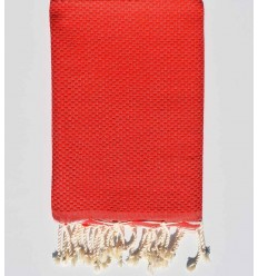 Fouta solid color Red fire