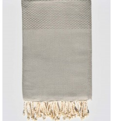 Plain honeycomb light grey fouta