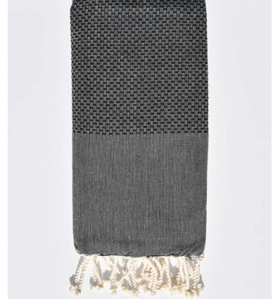 Plain honeycomb grey fouta