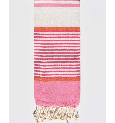 pink and white cream child Fouta