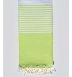 Light green with stripes throw