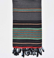 Arabesque striped black fouta